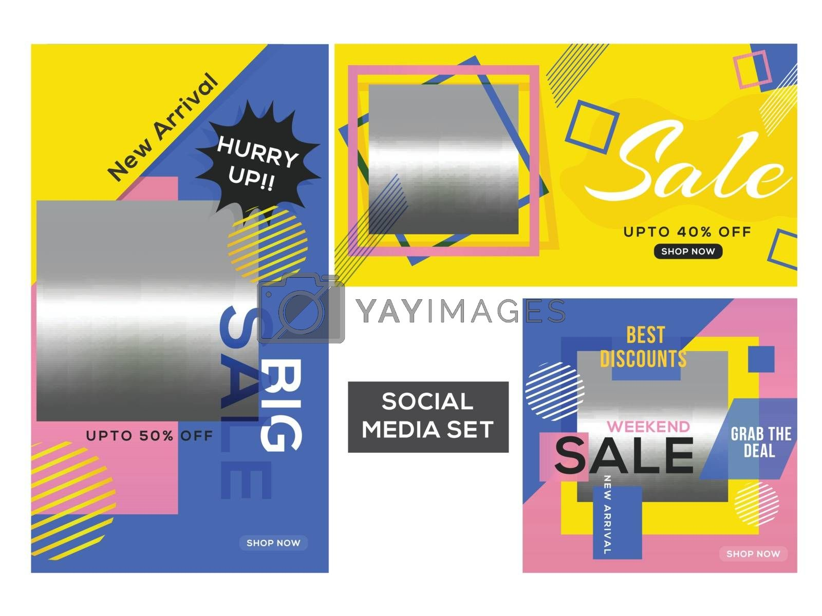 Royalty free image of Advertising template or poster collection with different discoun by aispl
