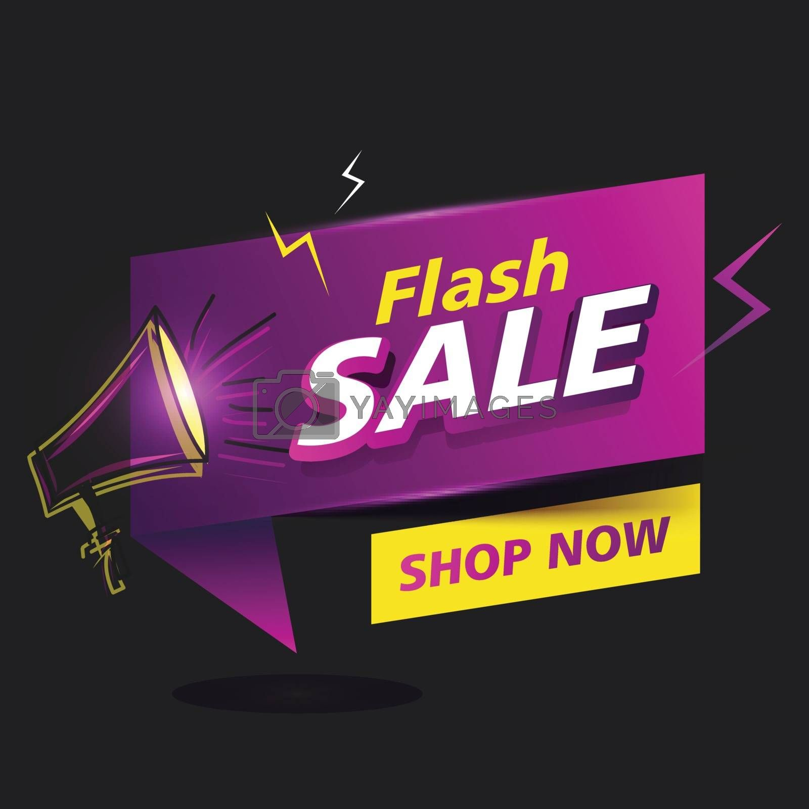 Royalty free image of Advertising glossy Flash Sale poster or banner design with black by aispl