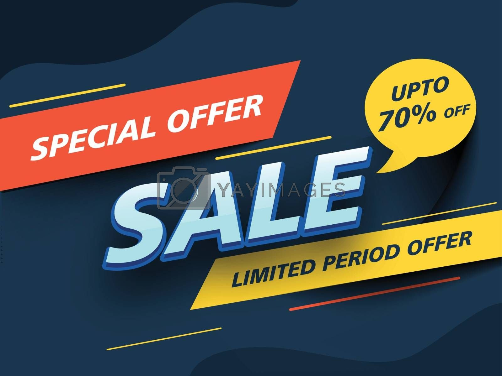 Royalty free image of Sale poster or banner design with Special Offer Up To 70% Discou by aispl