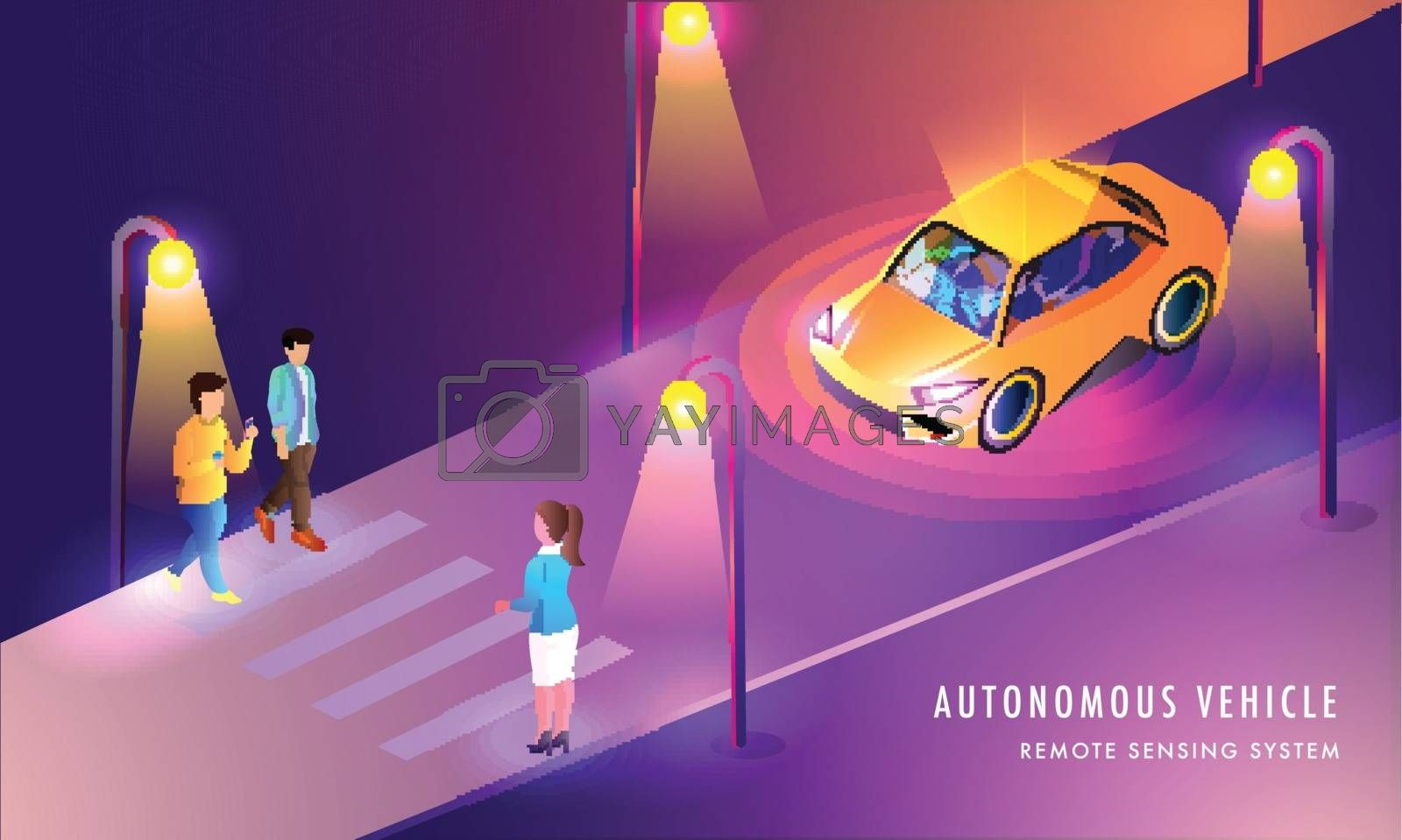 Royalty free image of Autonomous Vehicle, Remote Sensing System based web template des by aispl