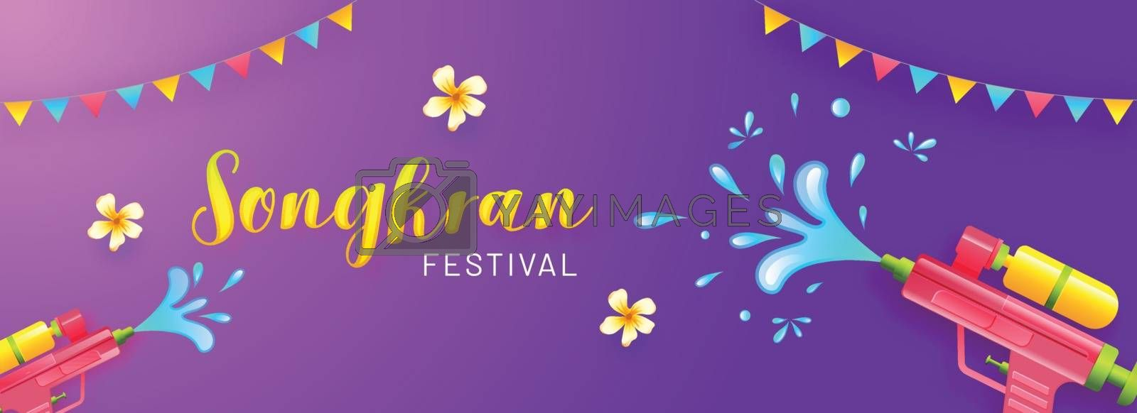 Royalty free image of Songkran festival celebration header banner or poster design on  by aispl