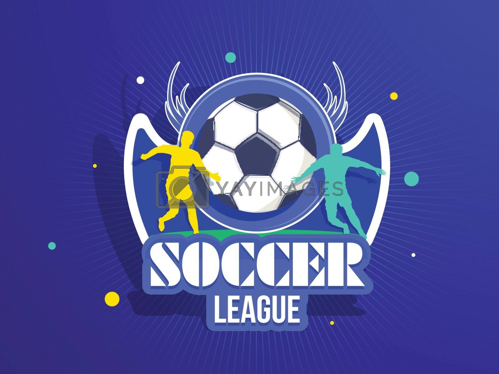 Royalty free image of Soccer League Match header or banner design with illustration of by aispl