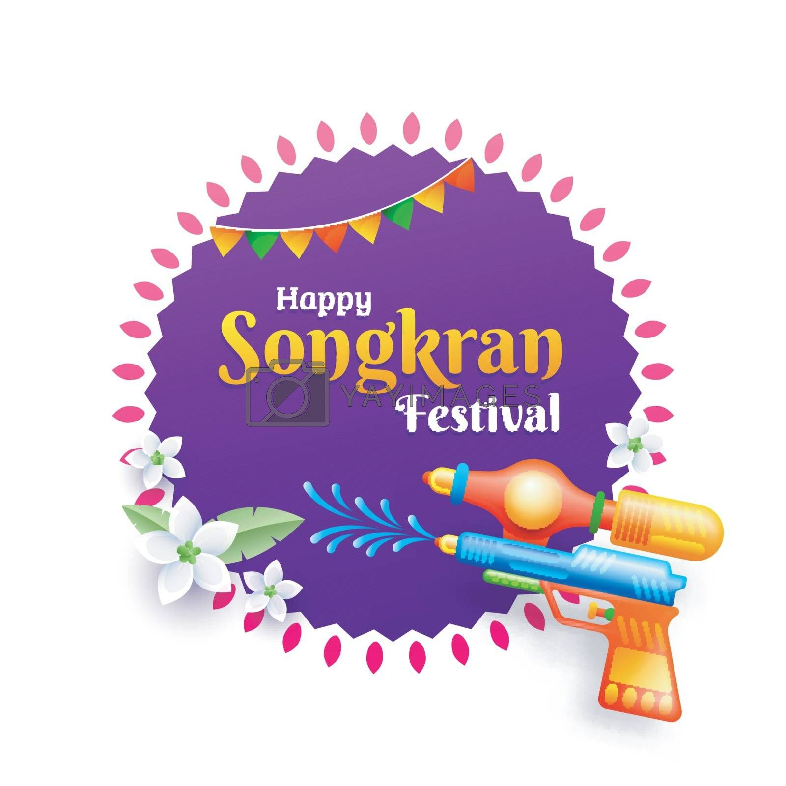 Royalty free image of Happy songkran festival celebration poster or flyer with illustr by aispl