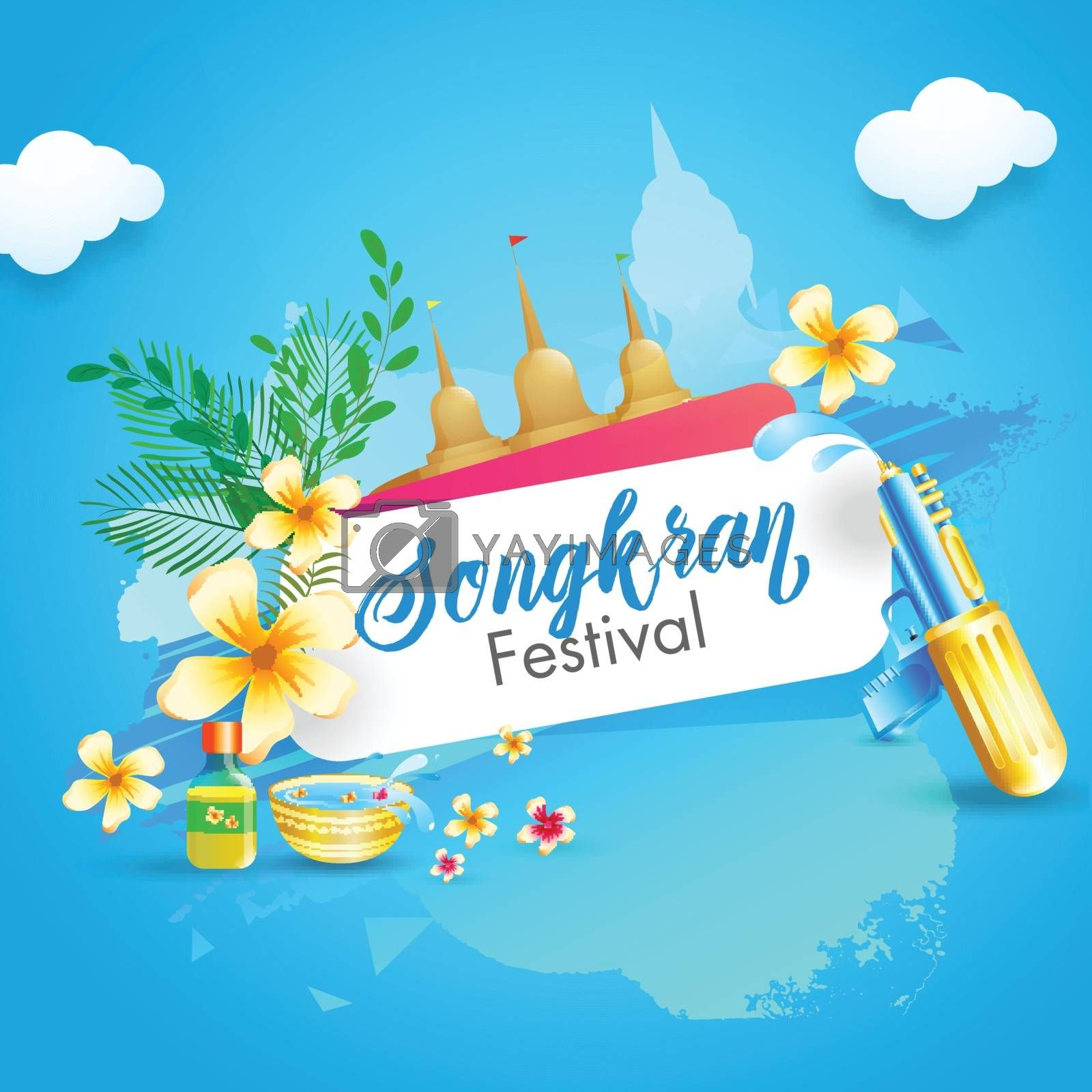 Royalty free image of Water Festival of Songkran poster or flyer design with illustrat by aispl