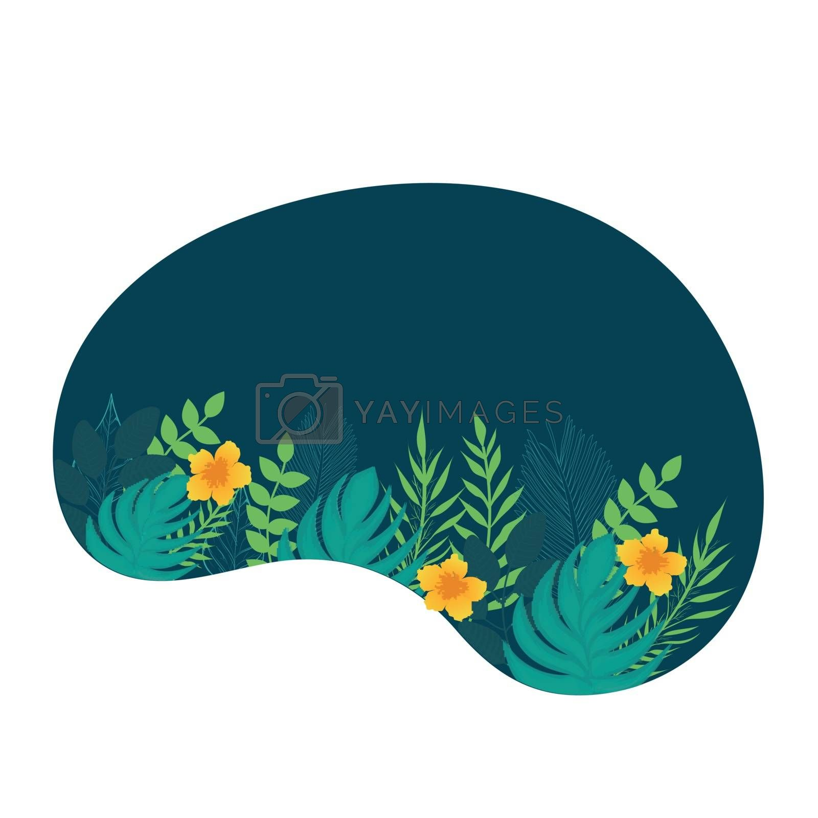 Royalty free image of Flat style illustration of leaves and flowers on white abstract  by aispl