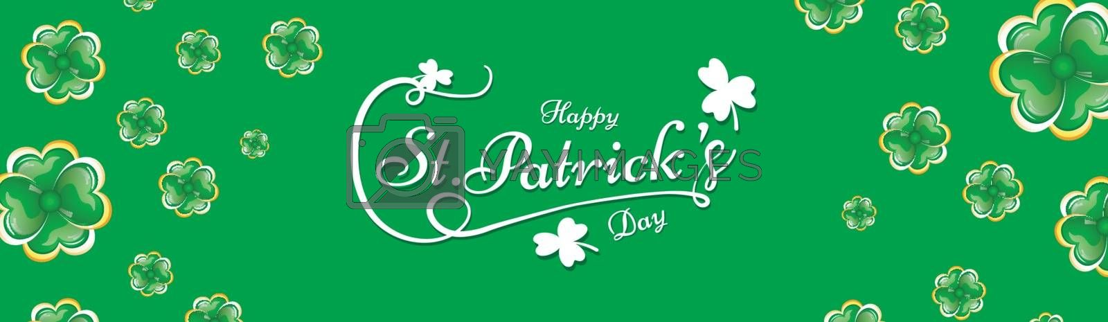 Royalty free image of Calligraphy of St Patrick's Day on green background decorated wi by aispl