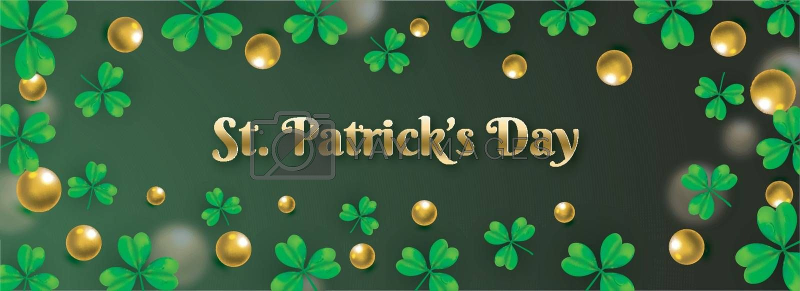 Royalty free image of St. Patrick's Day header or banner design decorated with clover  by aispl
