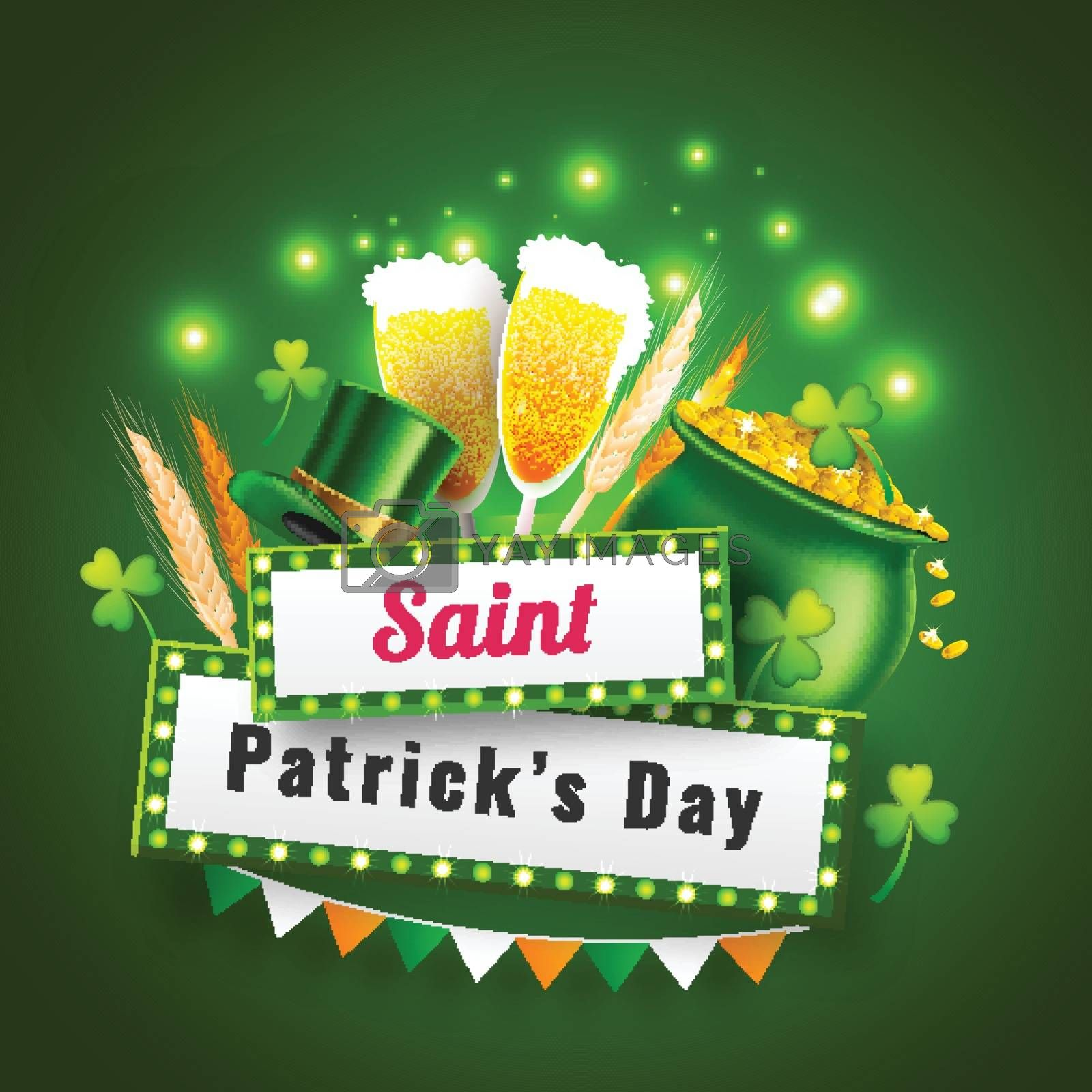 Royalty free image of Saint Patrick's Day celebration poster design with traditional f by aispl