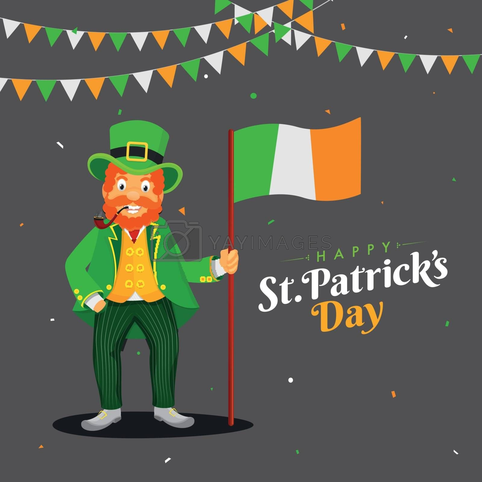 Royalty free image of Happy St. Patrick's Day celebration banner or poster design with by aispl