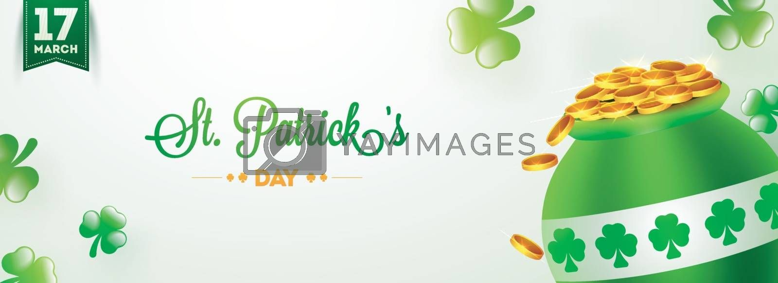 Royalty free image of 17 March, St. Patrick's Day header or banner design with traditi by aispl
