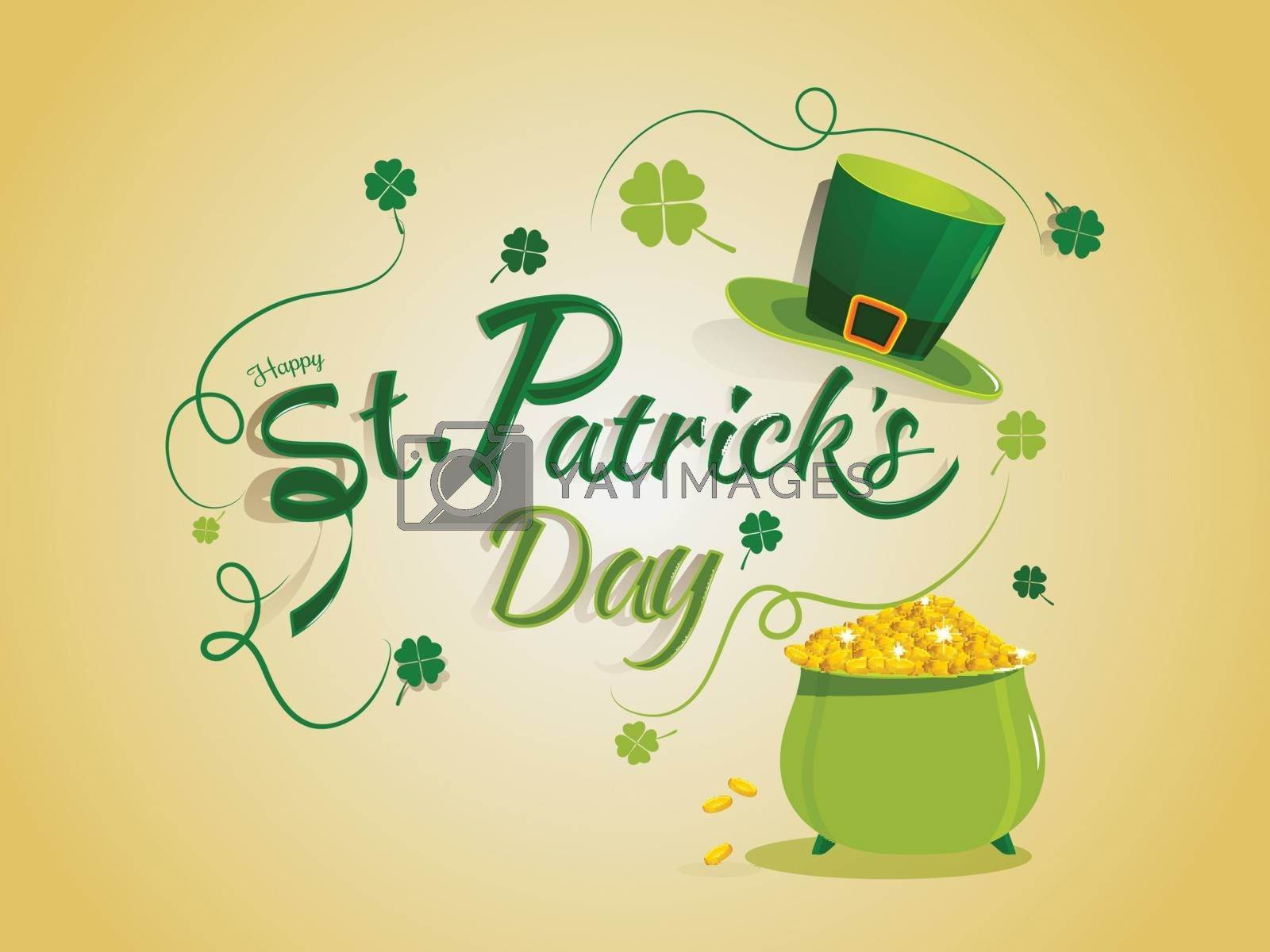 Royalty free image of Stylish lettering of Happy St. Patrick's Day with traditional co by aispl