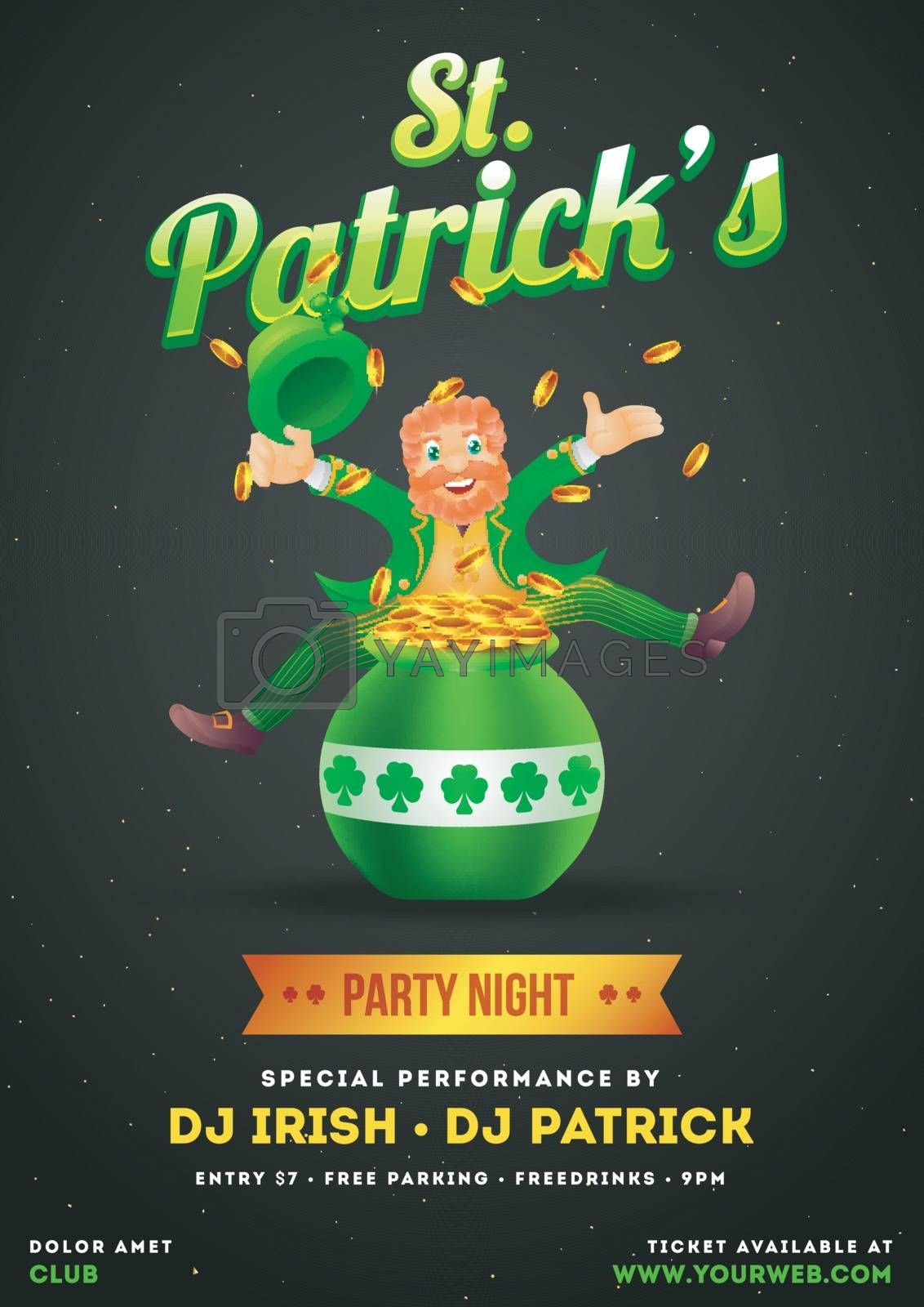 Royalty free image of St. Patrick's Day party invitation card or template design with  by aispl
