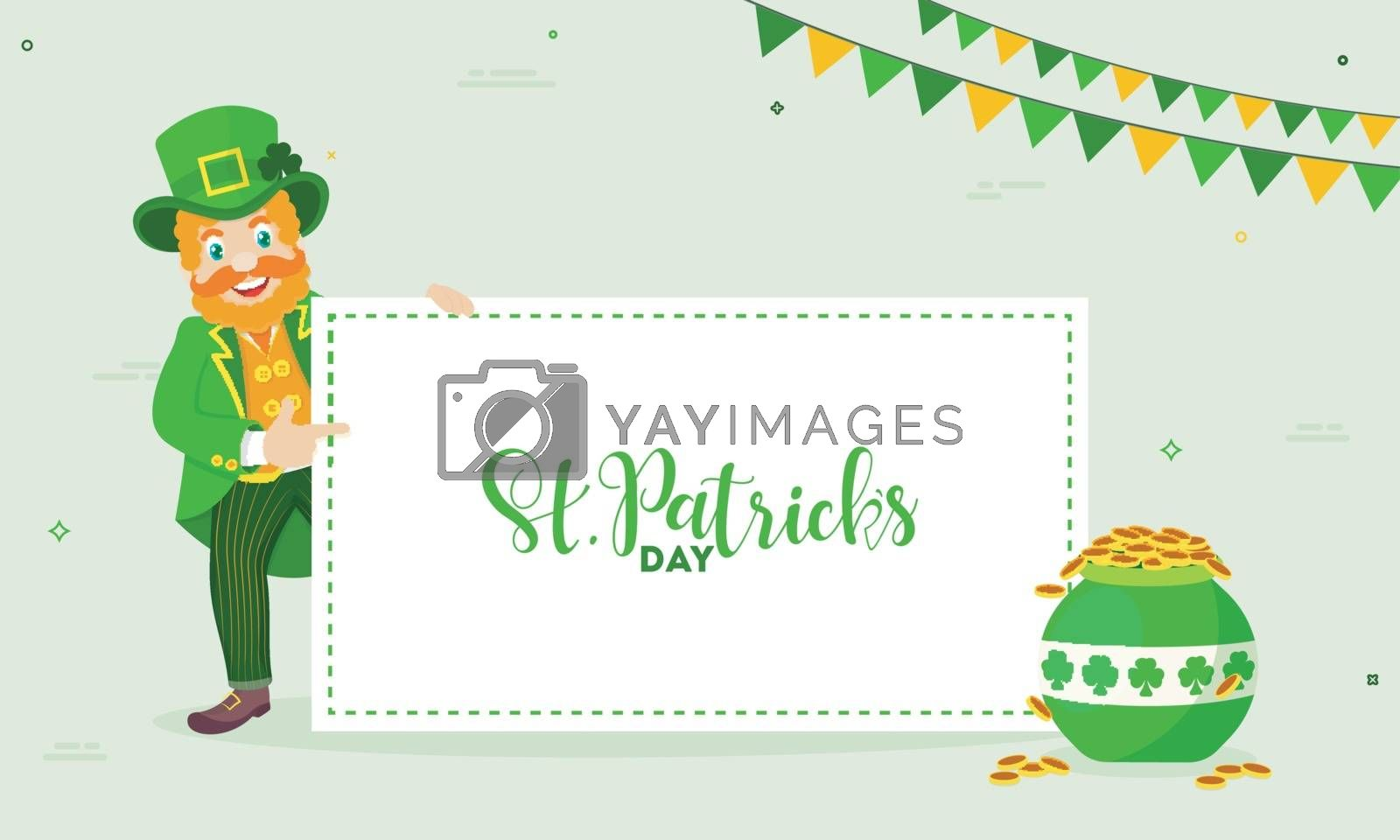Royalty free image of Happy leprechaun man character on the occasion of St. Patrick's  by aispl