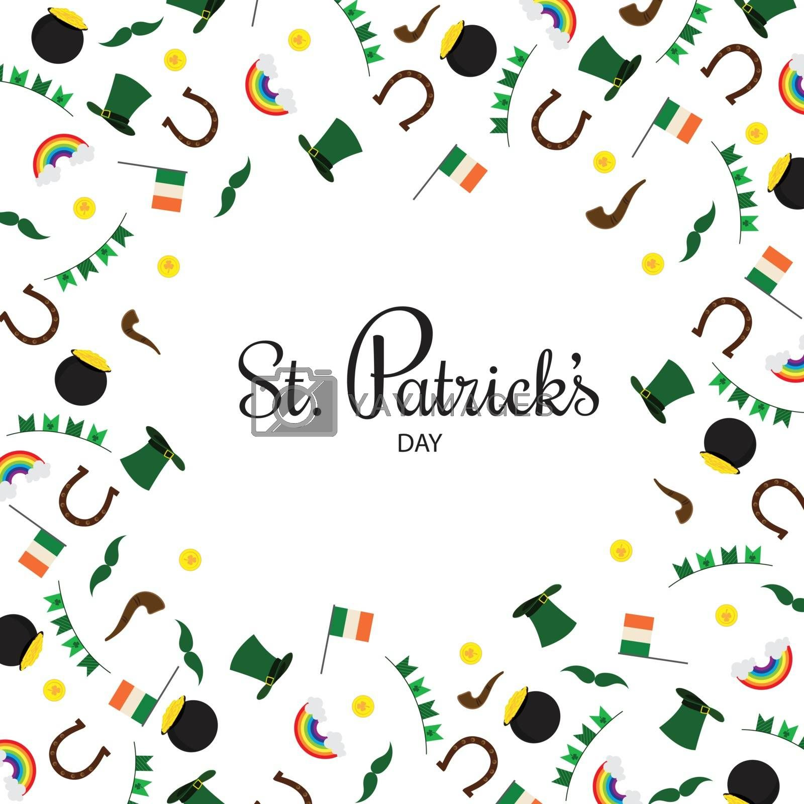 Royalty free image of Festival elements decorated white background for St. Patrick's D by aispl