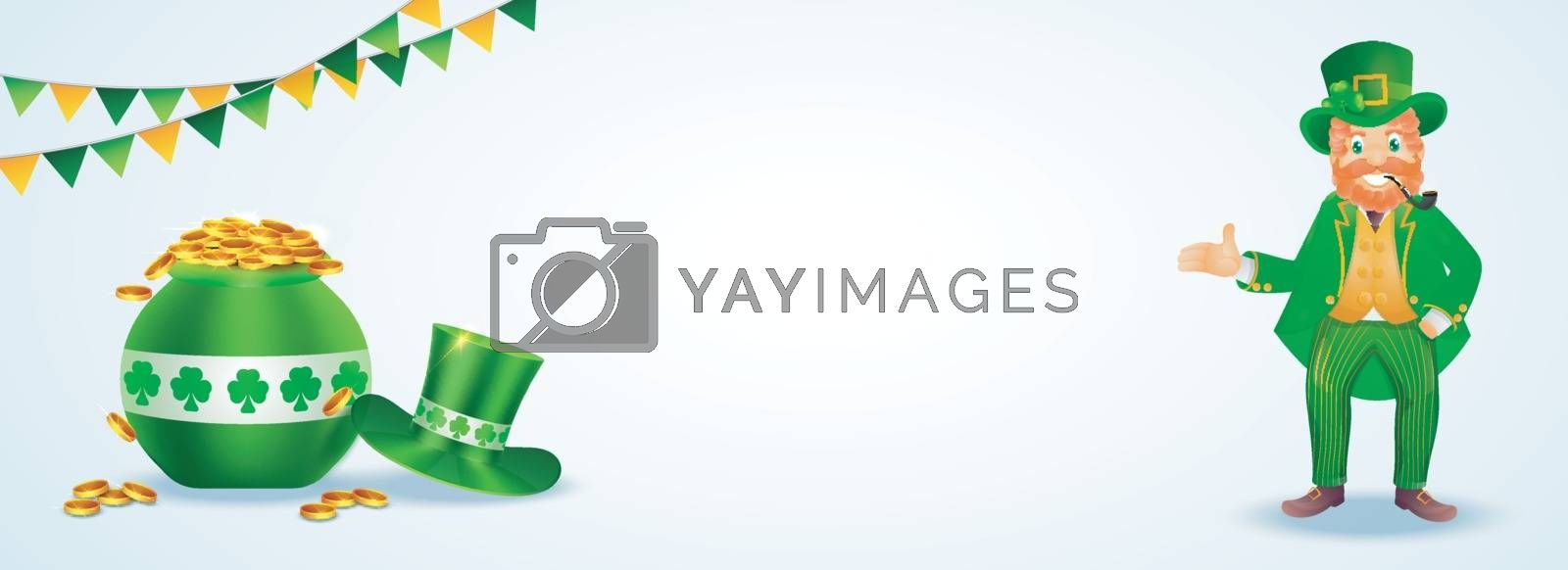 Royalty free image of St. Patrick's Day header or banner design with illustration of l by aispl