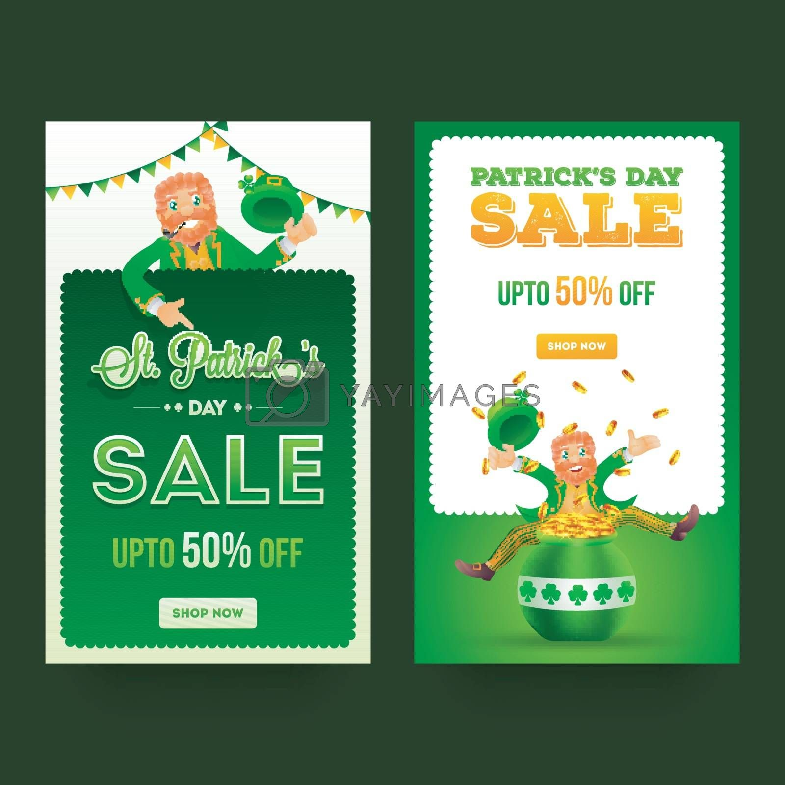 Royalty free image of Set of two sale template or flyer design with 50% discount offer by aispl