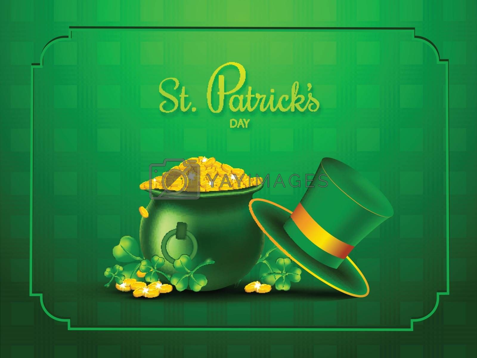 Royalty free image of St. Patrick's Day celebration banner design, illustration of coi by aispl