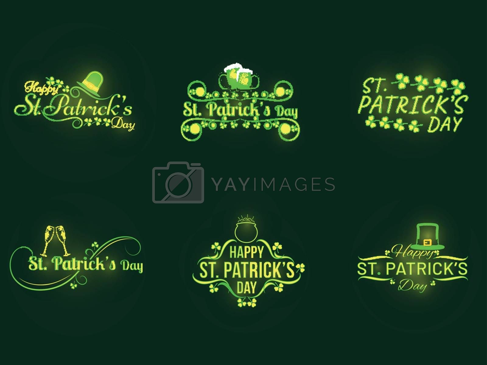 Royalty free image of Happy St. Patrick's Day calligraphy set with festival elements o by aispl