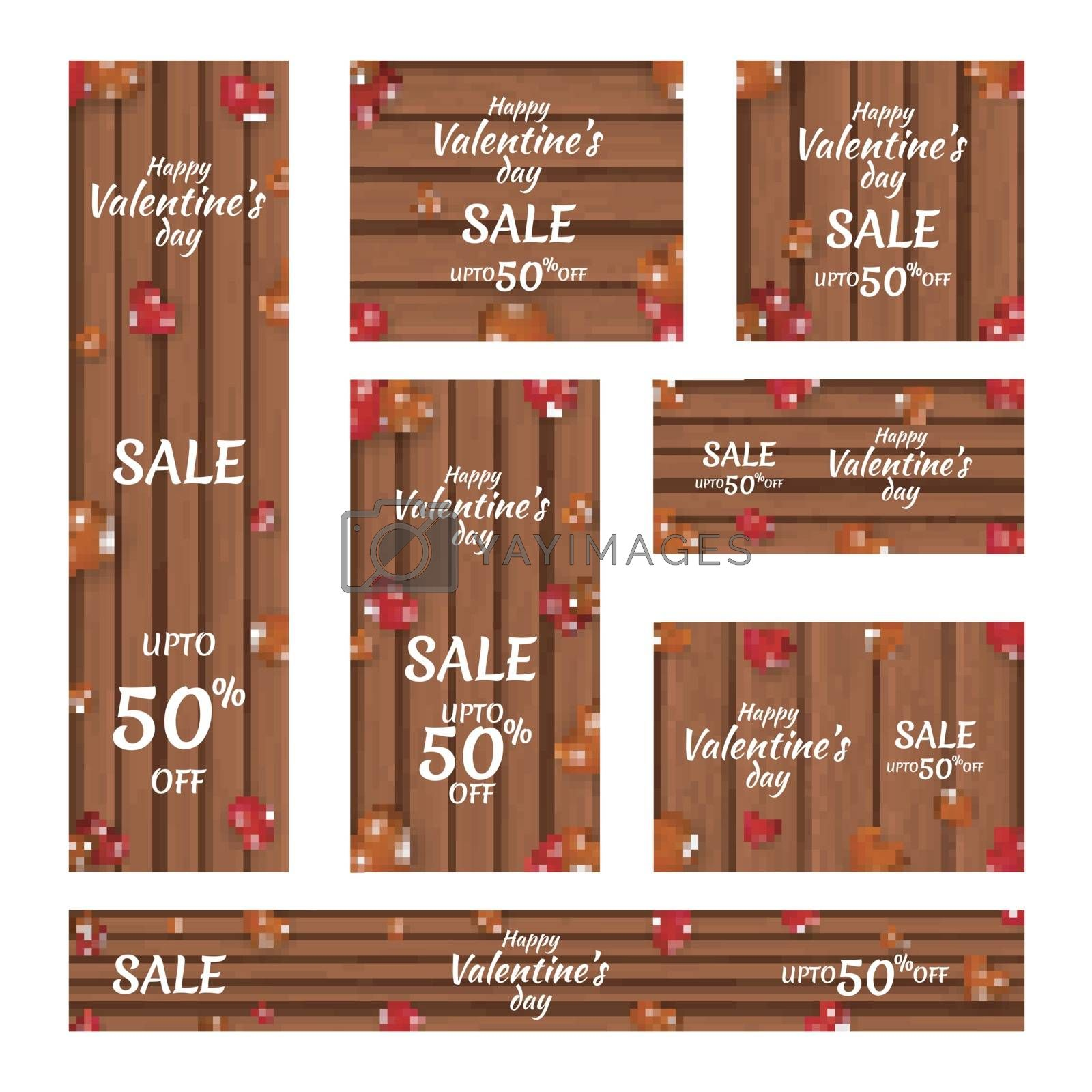 Creative header and banner set with 50% discount and decorative  by aispl