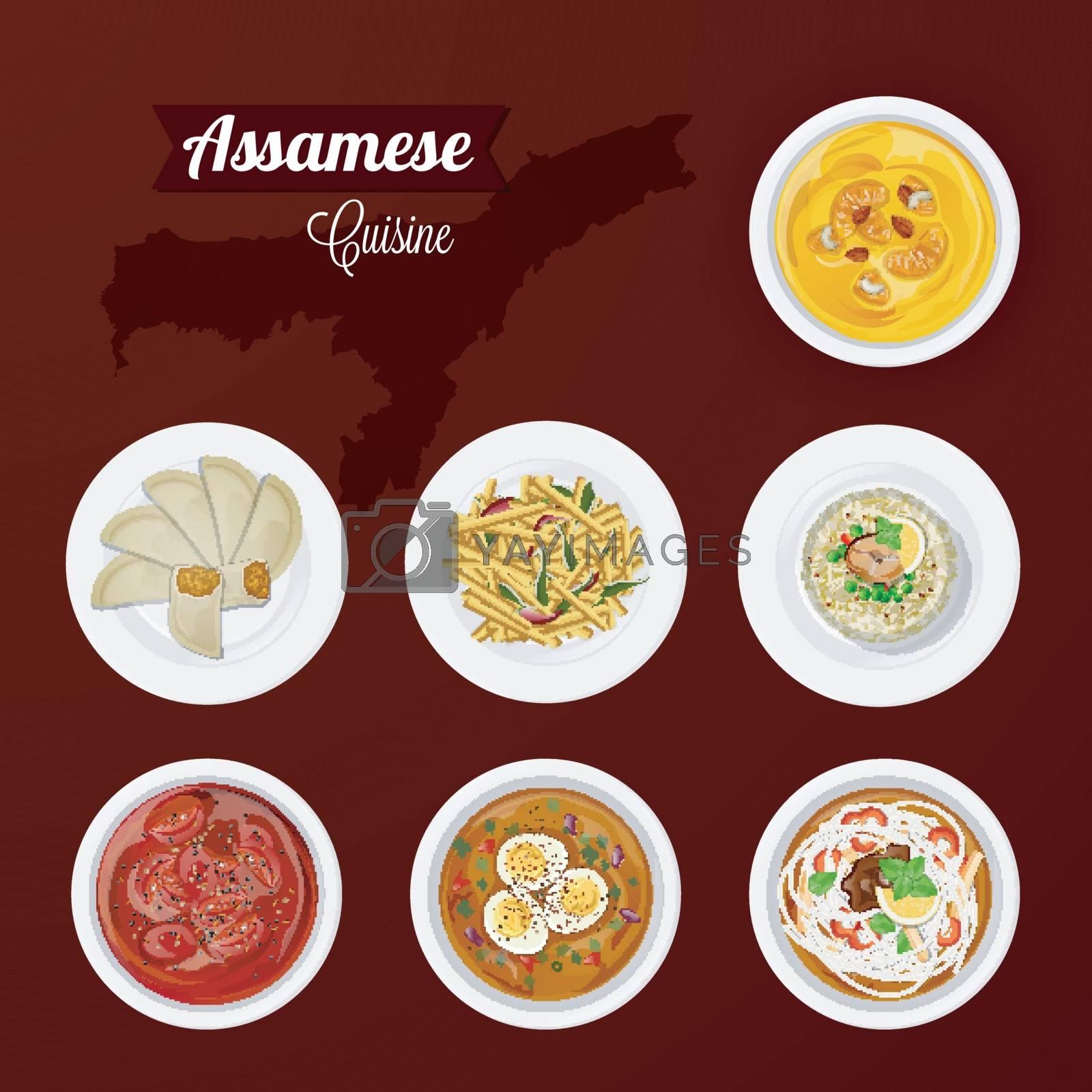 Assamese cuisine view of delicious cuisine for restaurant. by aispl