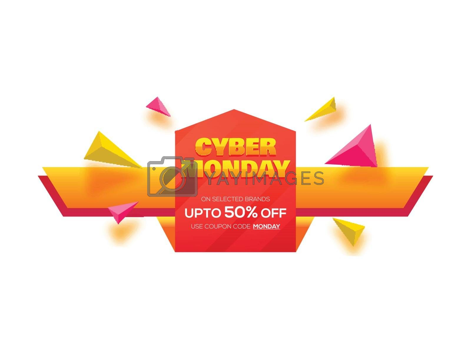 Up to 50% discount offer for Cyber Monday Sale poster or banner  by aispl