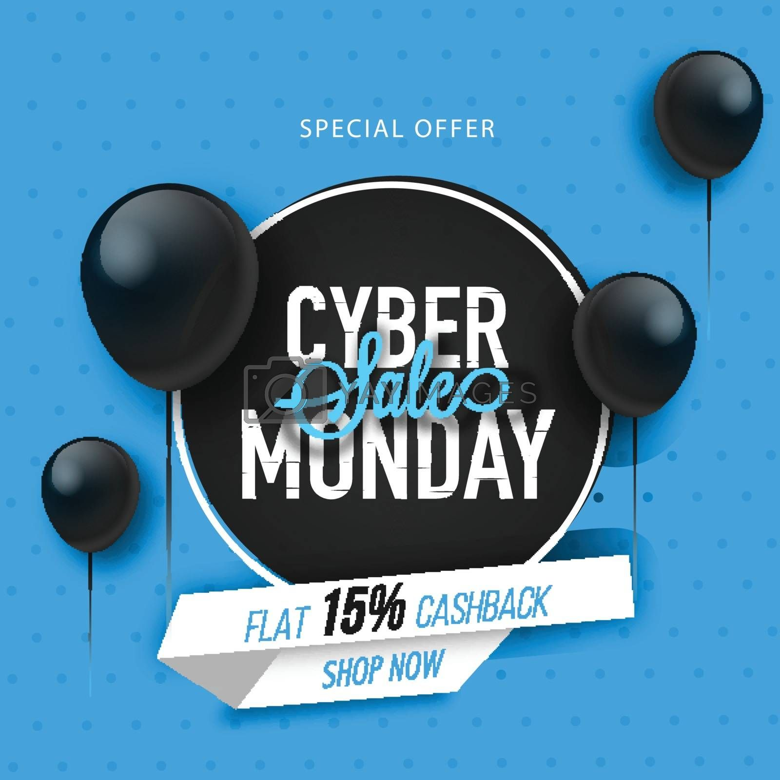 Cyber monday sale background. by aispl