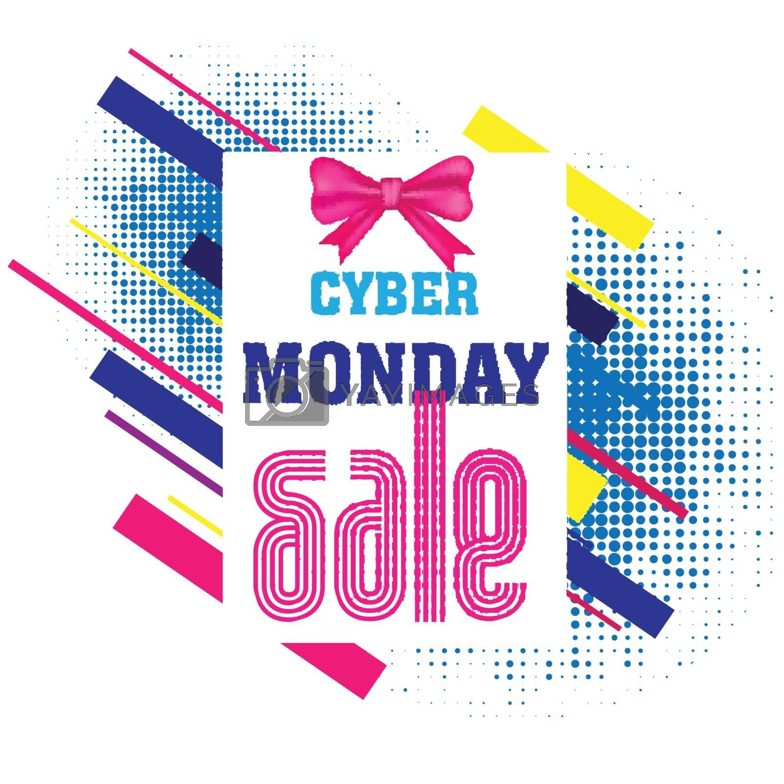 Template or flyer design with creative text Cyber Monday Sale an by aispl
