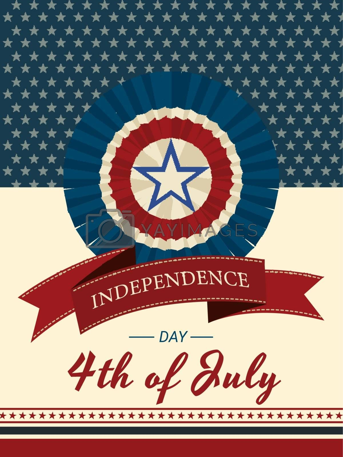 Royalty free image of 4th of July Independence Day invitation card or template design  by aispl