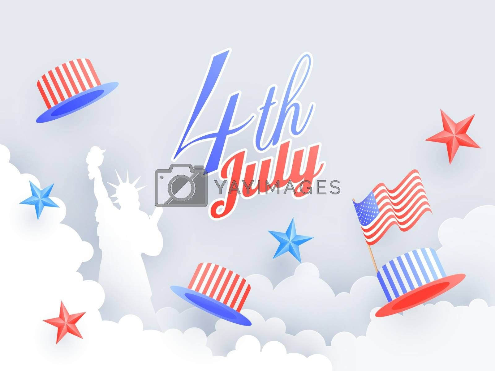 Royalty free image of 4th of July celebration poster or banner design decorated with S by aispl