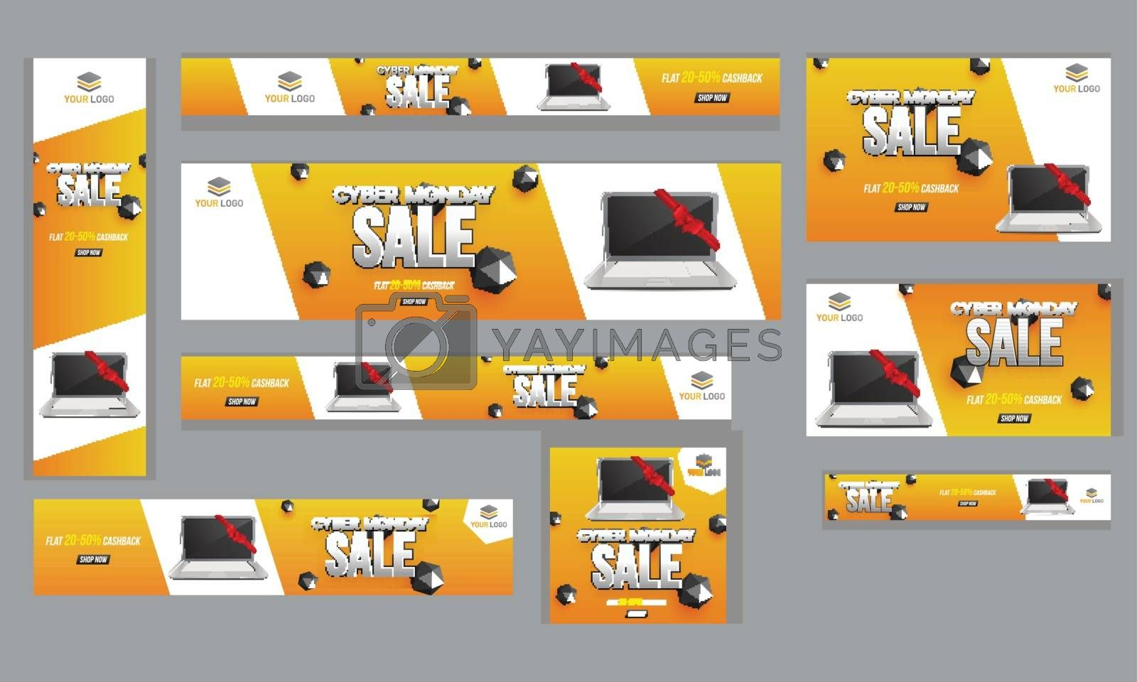 Advertising poster, banner and template set with 20-50% discount by aispl