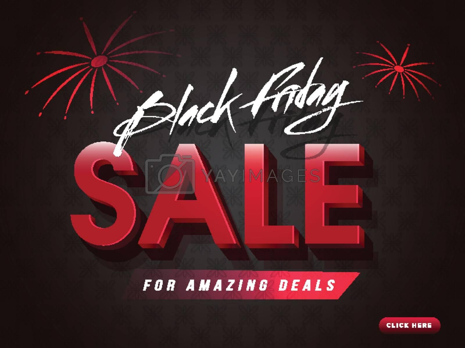 Amazing deals for Black Friday Sale. Website poster or banner design.