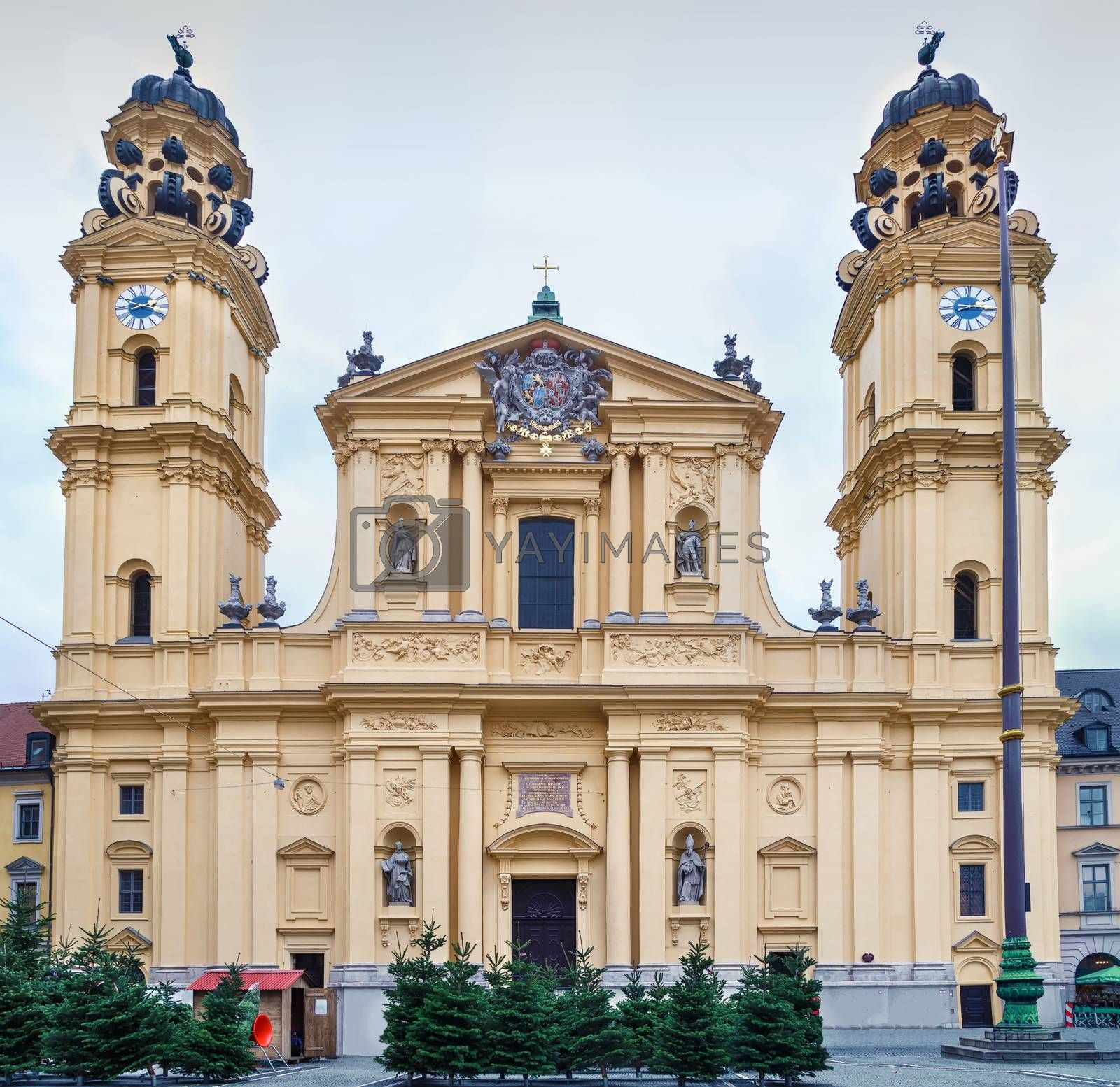 Theatine Church of St. Cajetan is a Catholic church in Munich, Germany. Built from 1663 to 1690