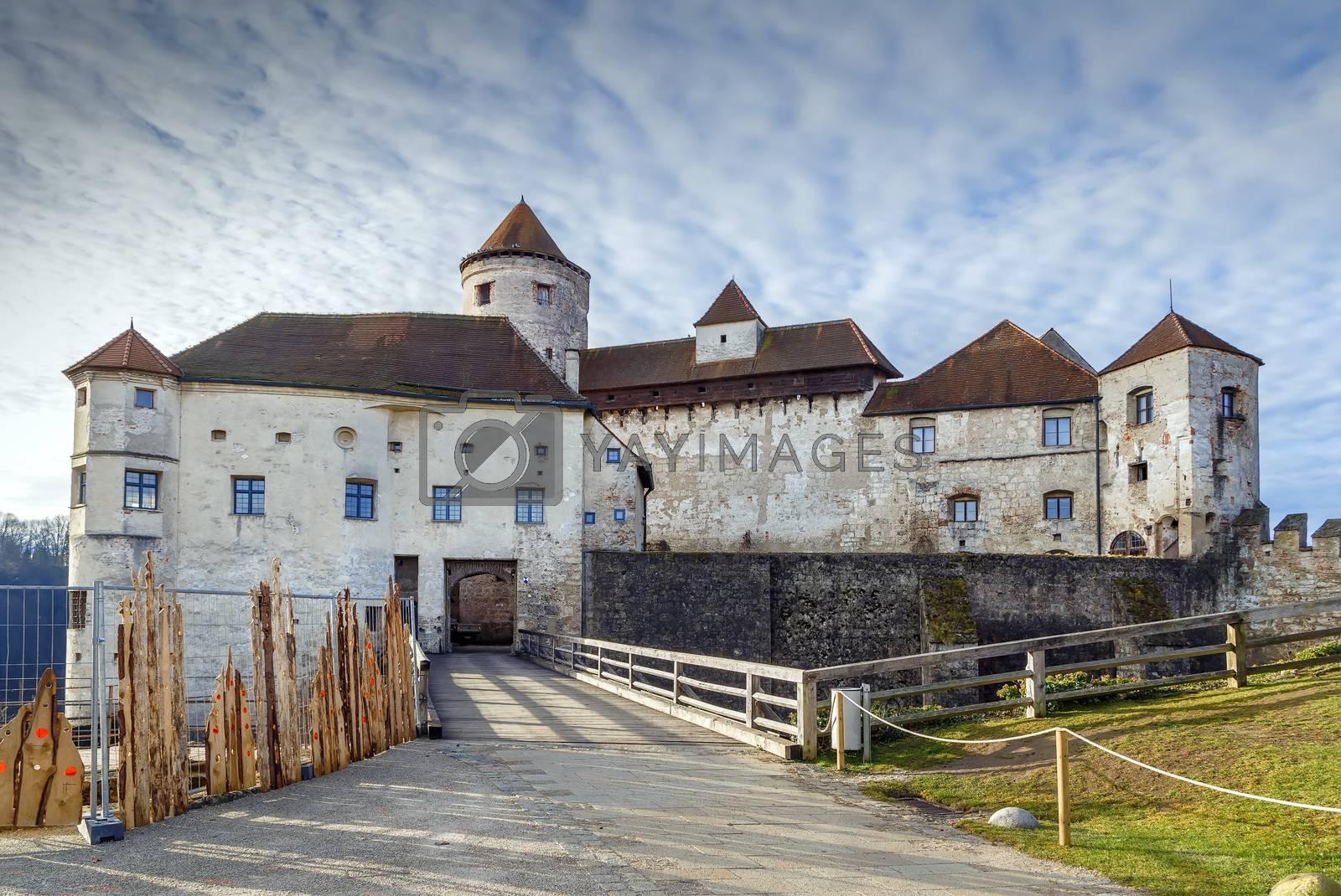 Main building of  Burghausen Castle, Upper Bavaria, Germany