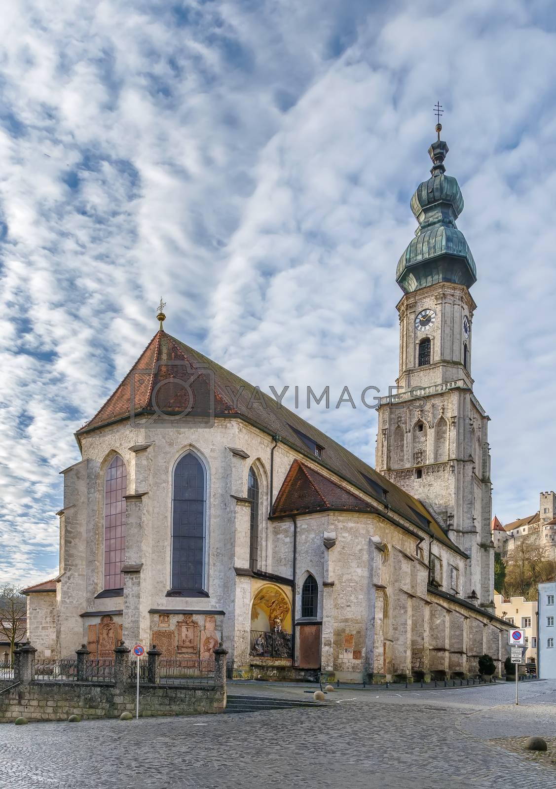 St. Jakob Parish Church in Burghausen, Upper Bavaria, Germany