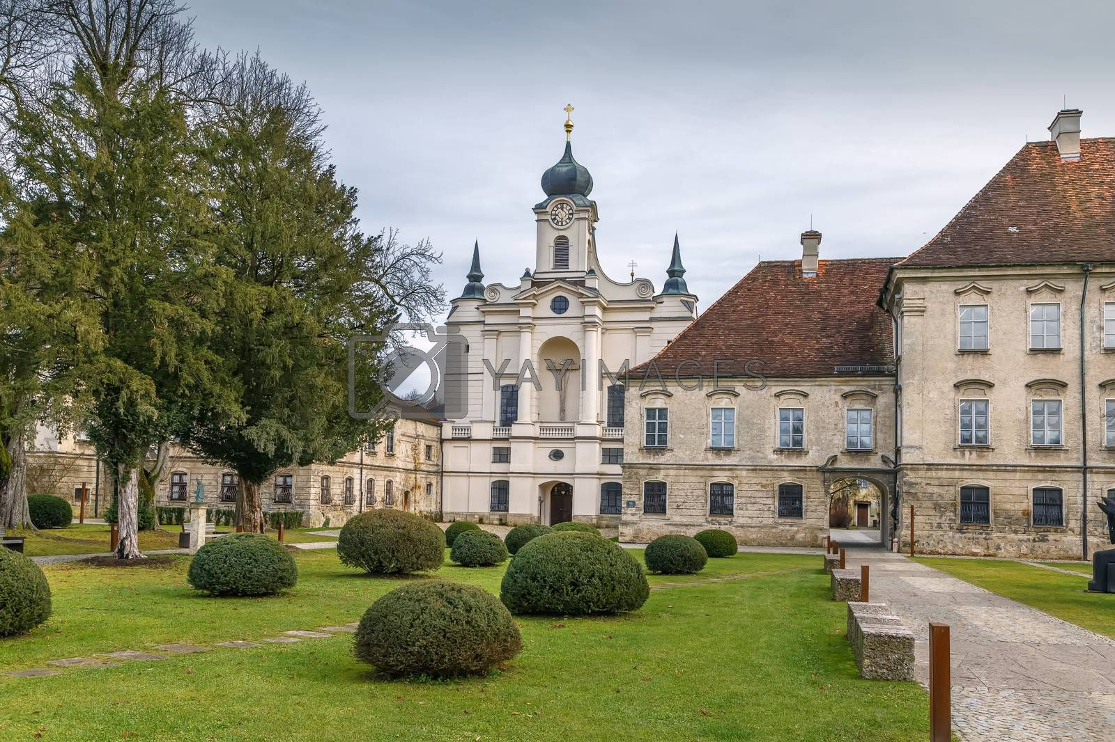 Church in Raitenhaslach abbey near Burghausen, Germany