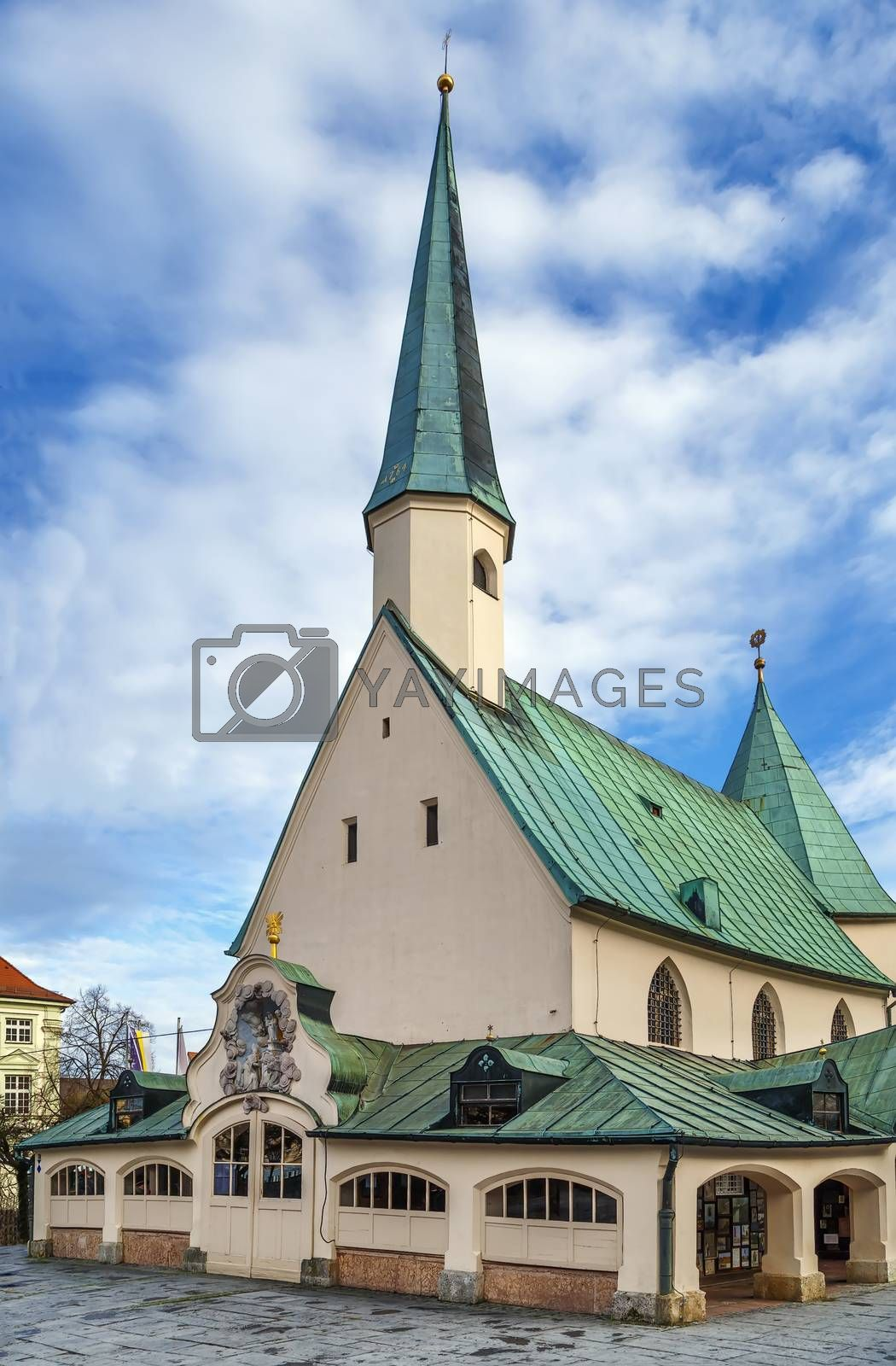 Shrine of Our Lady of Altotting, also known as the Chapel of Grace (Gnadenkapelle), is the national shrine of Bavaria dedicated to the Blessed Virgin Mary. Altotting, Germany