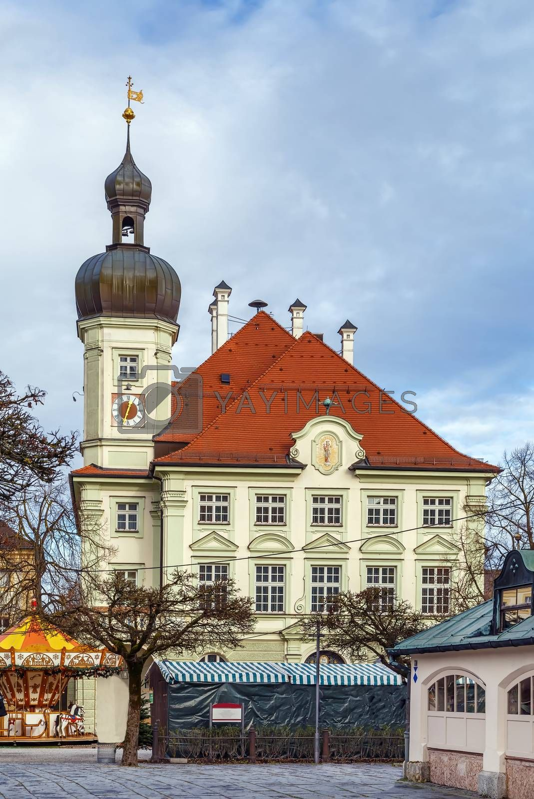 Town Hall of Altotting on main square, Germany