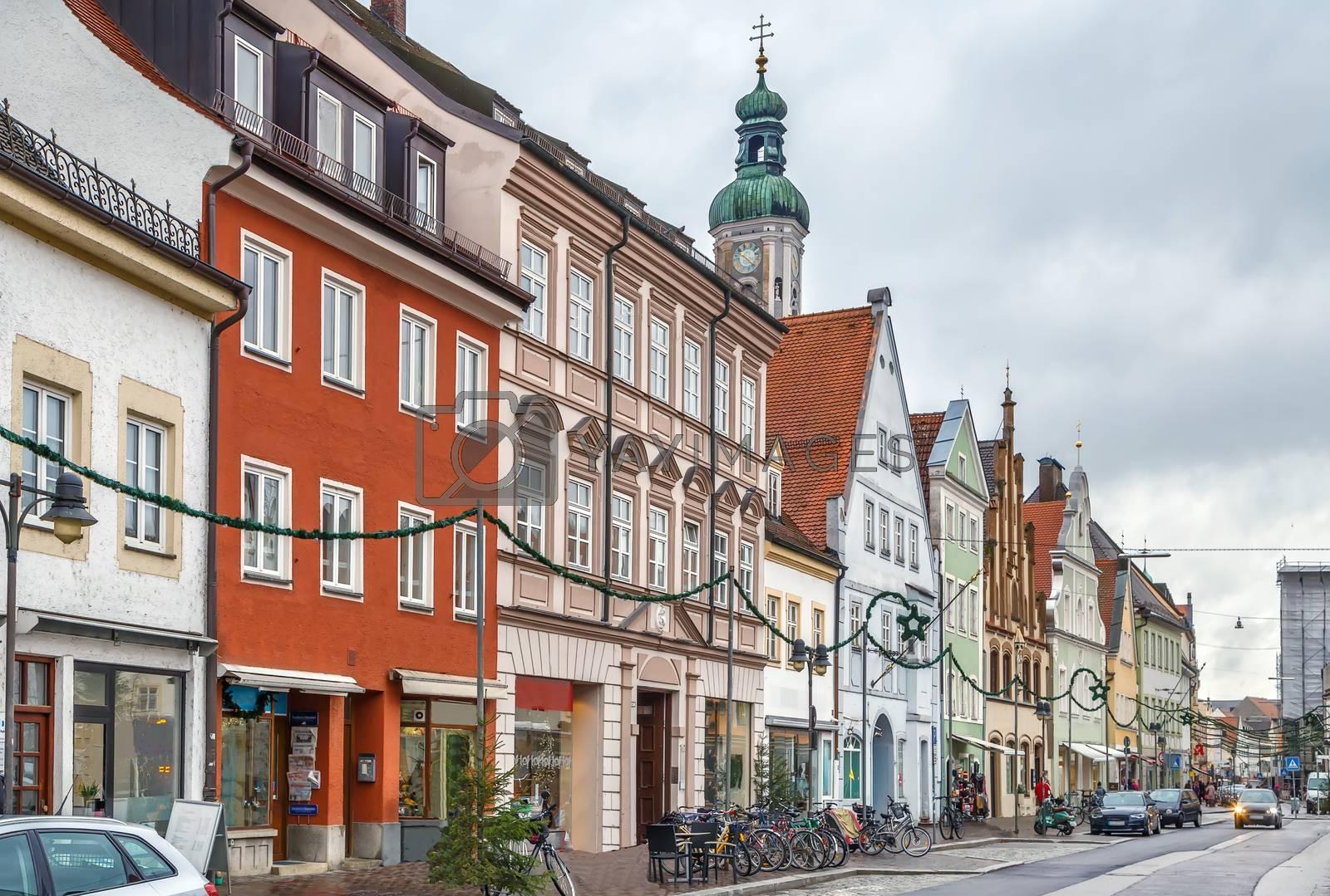 Royalty free image of Street in Freising, Germany by borisb17