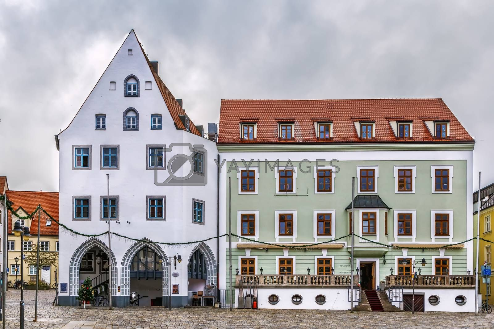 Royalty free image of Square in Freising, Germany by borisb17