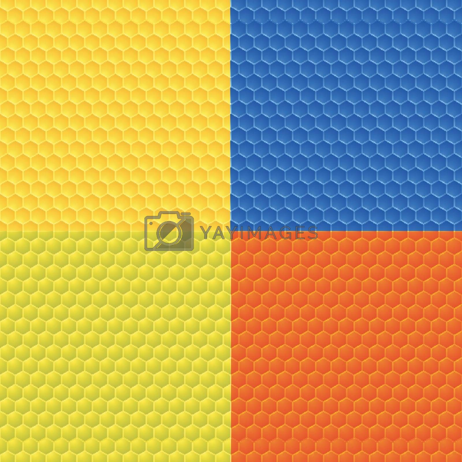 Set of four colorful abstract seamless backgrounds. by aispl