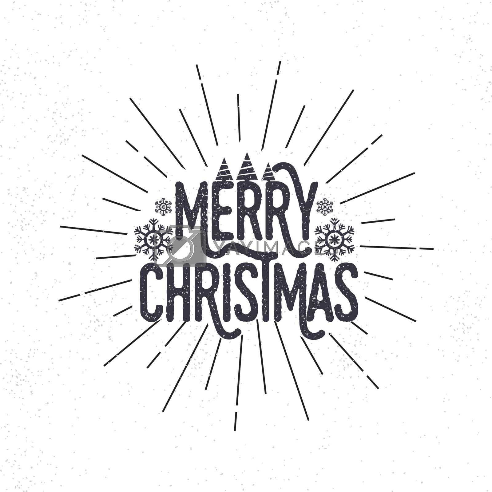 Creative text Merry Christmas on white background, Can be used as poster, banner or flyer design.