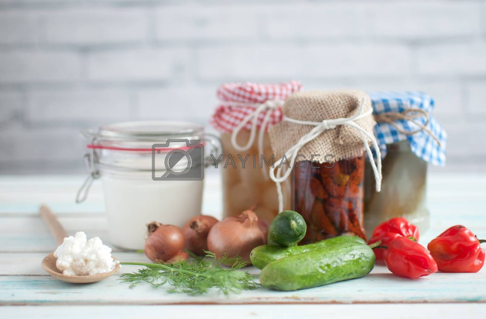 Royalty free image of Prebiotic fermented foods by unikpix