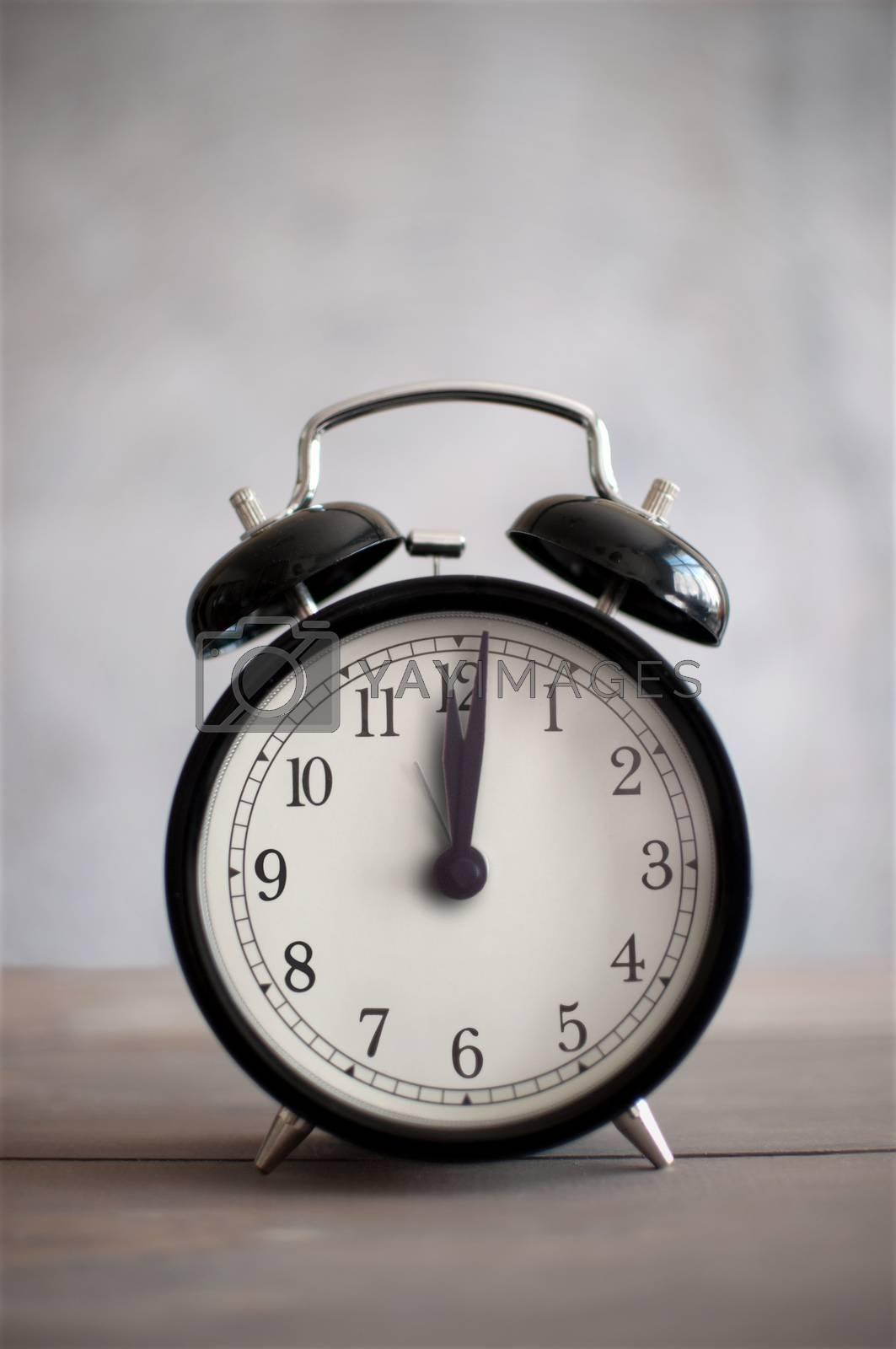 Royalty free image of Vintage alarm clock by unikpix