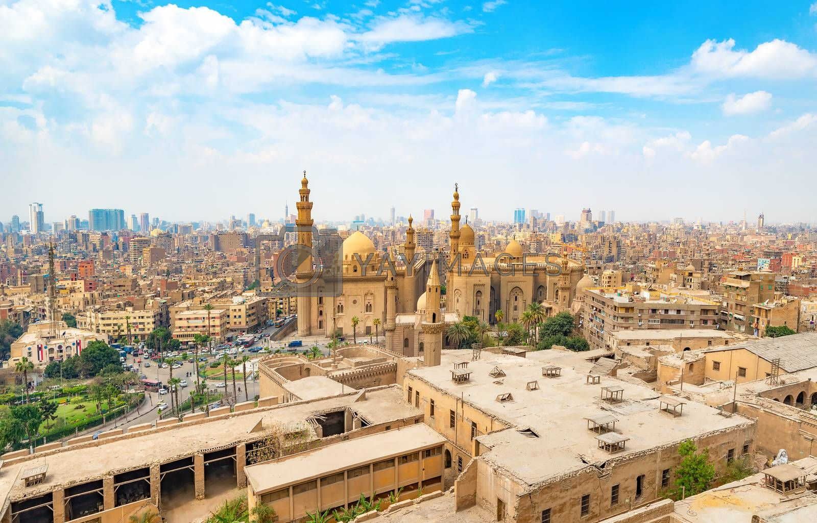 View of the Mosque Sultan Hassan in Cairo
