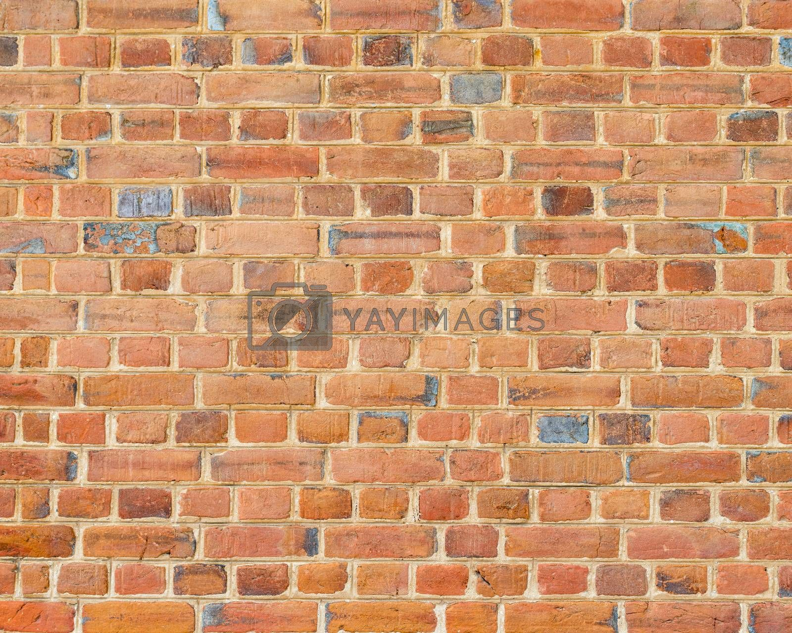Detail of an old brick wall texture