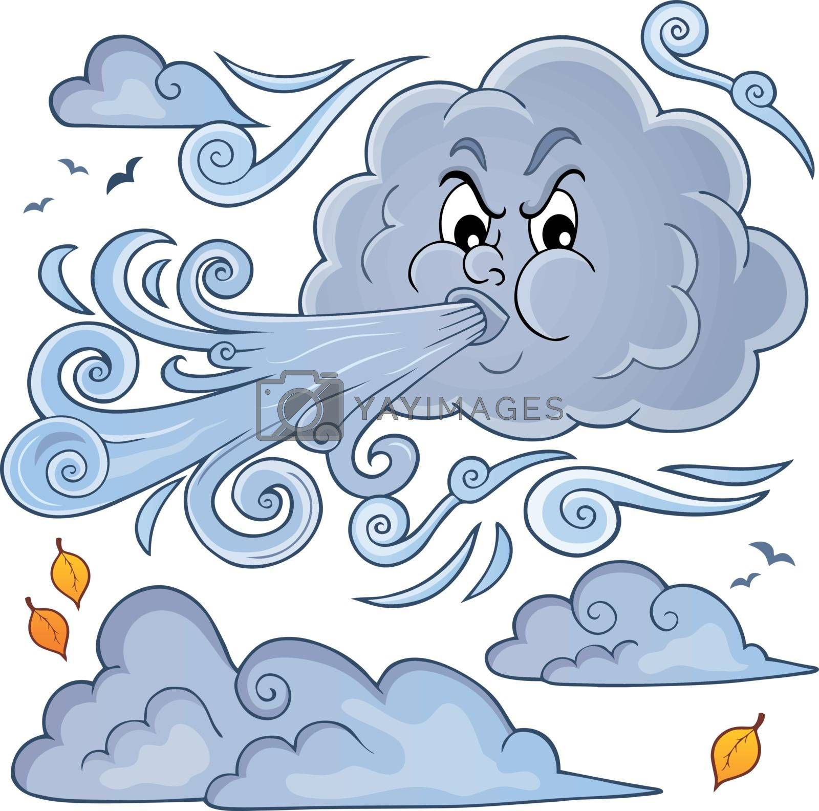 Clouds and wind theme image 1 - eps10 vector illustration.