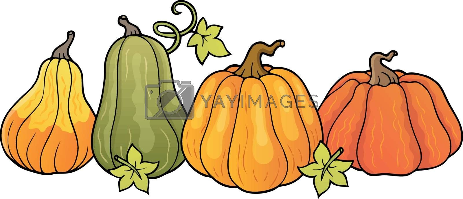 Pumpkins theme image 1 - eps10 vector illustration.