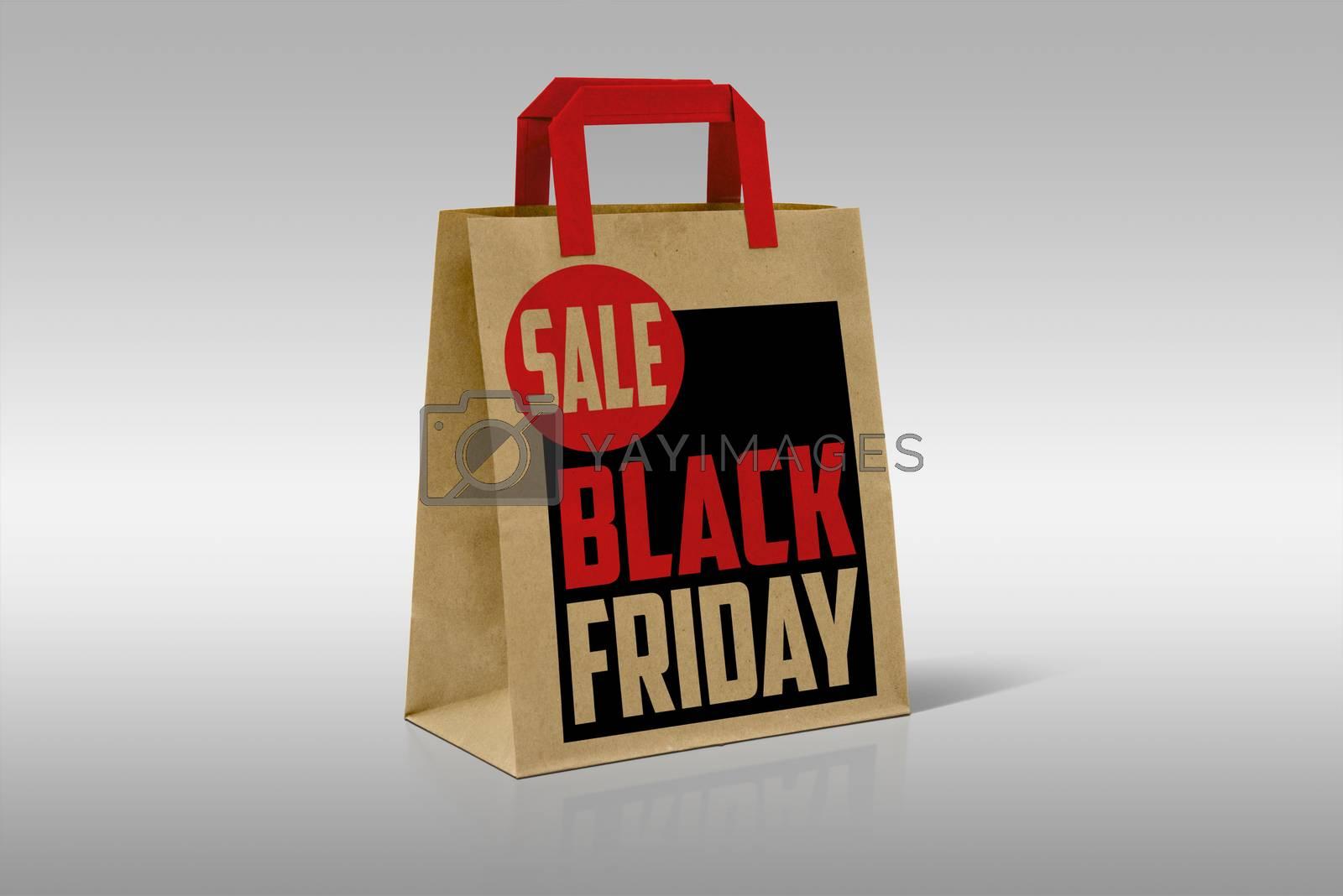 Black Shopping Bag Isolated On White Background