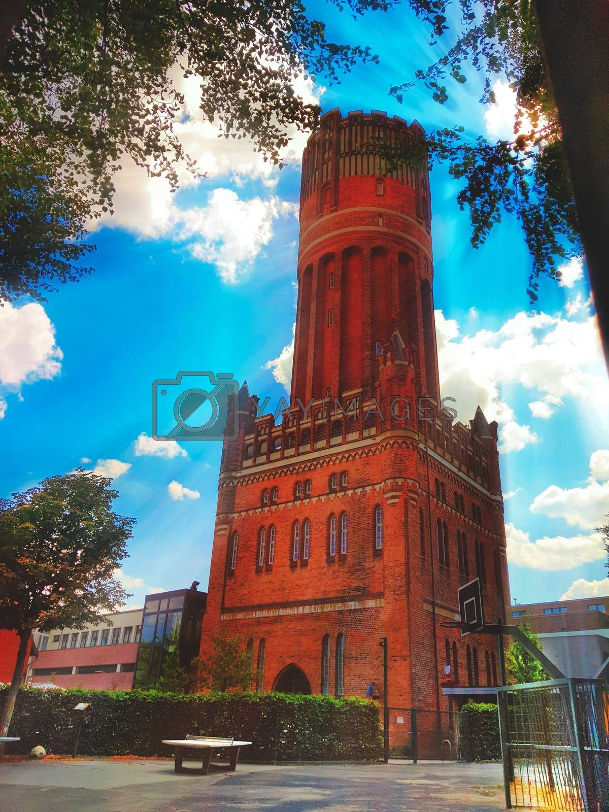 The Lüneburg water tower built between 1905 and 1907 in the southeast of Lüneburg's old town today serves as a lookout tower.