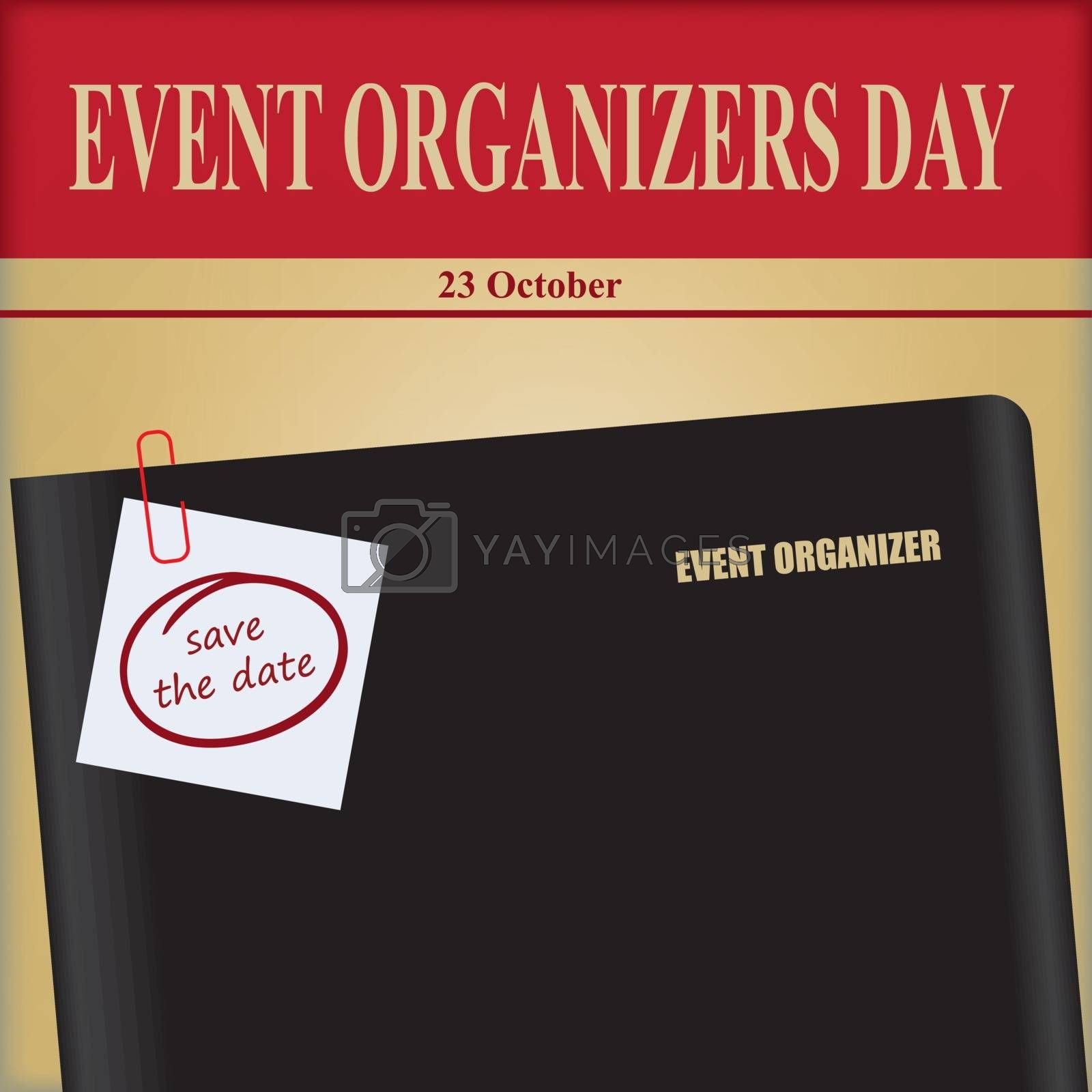 Event organizer office notebook - for October event Event Organizers Day